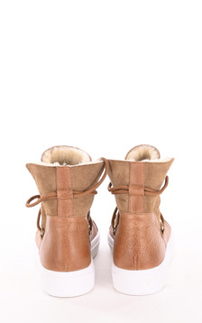 Boots mouton velours camel