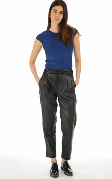 Goosecraft - Pantalon en cuir noir