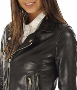 Blouson Stella en cuir noir La Canadienne