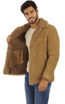 Peau lainé merinos camel