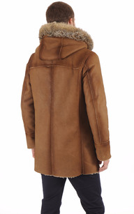 Duffle-Coat en Mouton Patiné