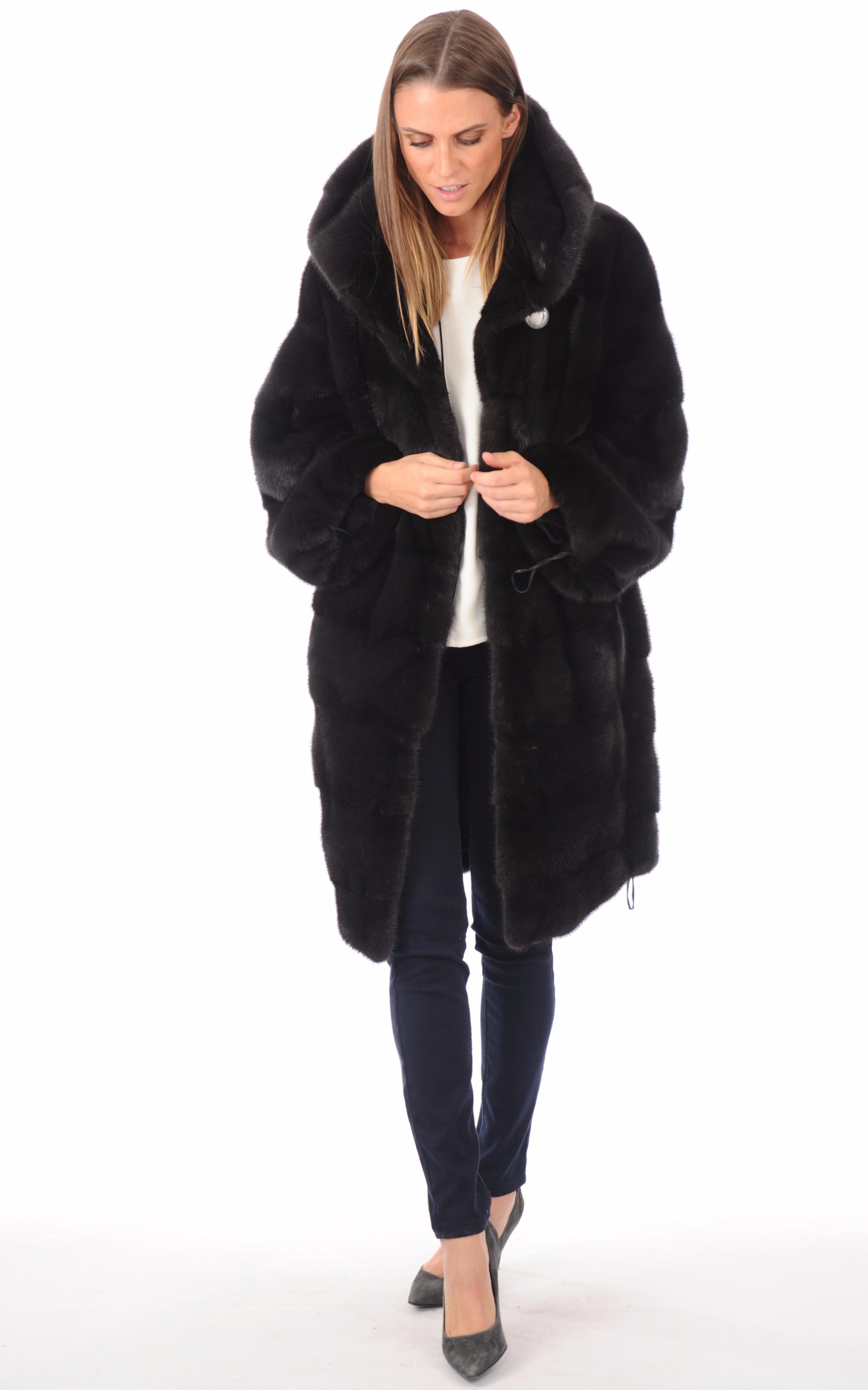 Manteau vison noir Manakas