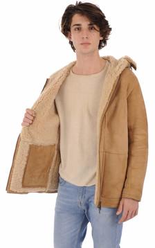 Peau lainée agneau camel