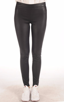 Legging Cuir Stretch Marine1