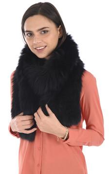Echarpe longue renard noire