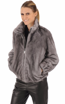 Blouson vison gris1