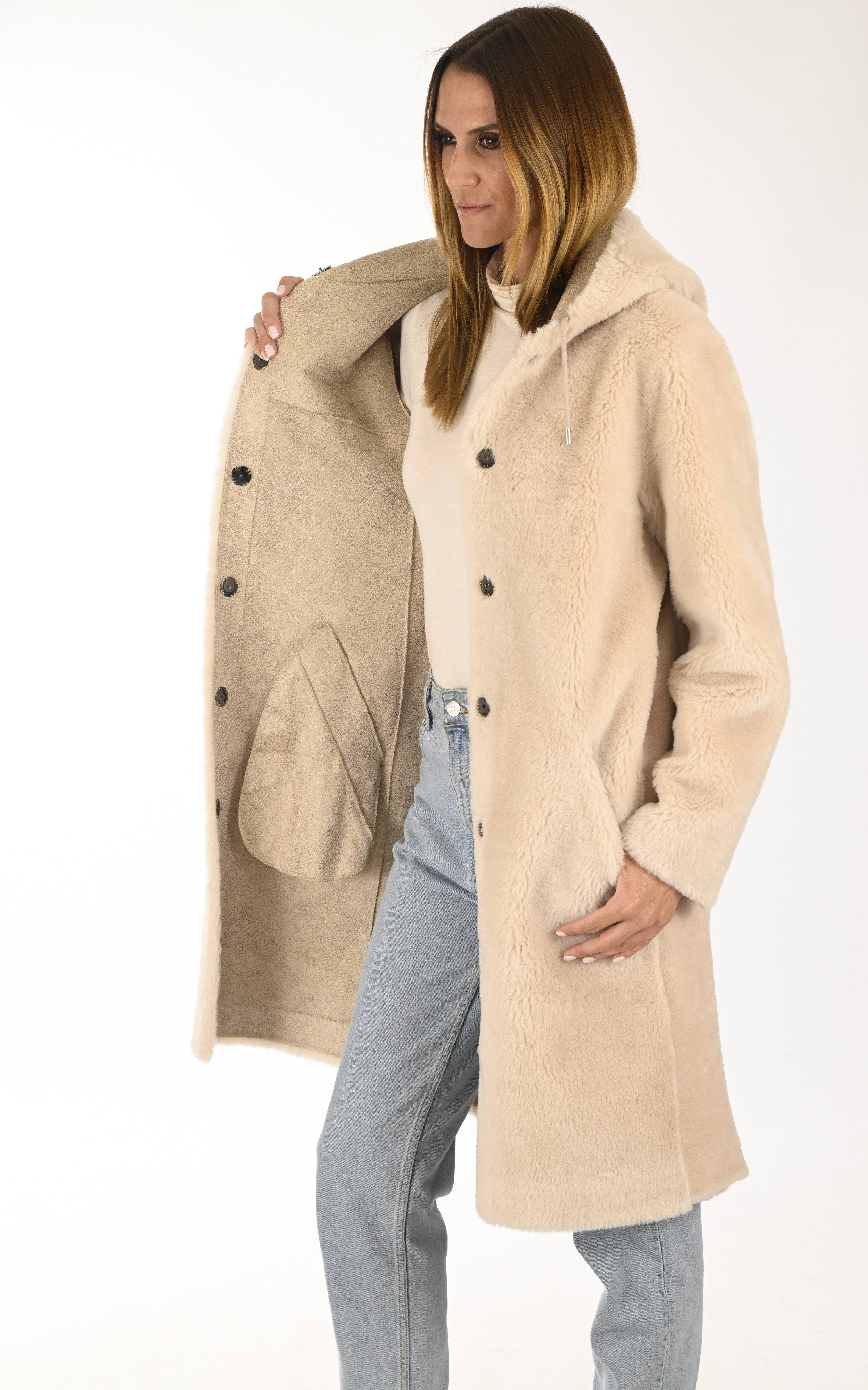 Manteau réversible Muse beige Oakwood