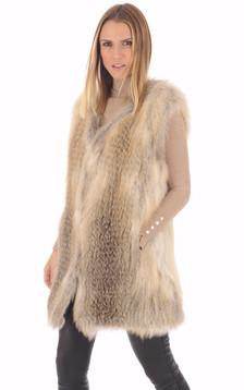 Gilet en fourrure de renard femme