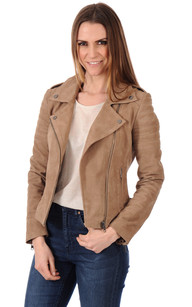 Blouson City Girl Cuir Velours