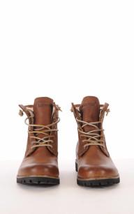 Boots Cuir Camel Fourrées Mouton1