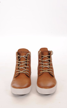 Baskets Cuir Homme Camel1