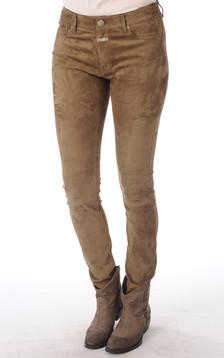 Pantalon Aspect Daim Femme1