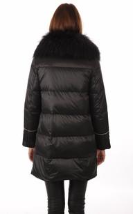 Doudoune Longue Noire Style Camouflage