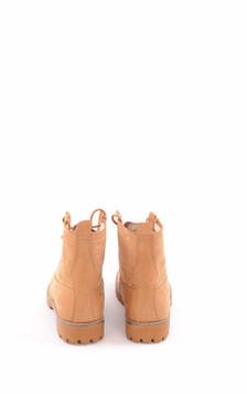 Boots Cuir Fourrées Mouton Camel Femme
