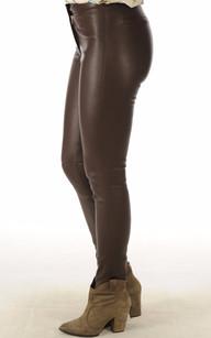 Legging Cuir Stretch Marron