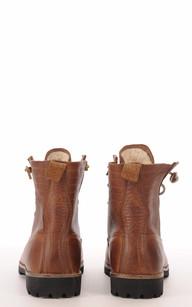 Boots Cuir Camel Fourrées Mouton
