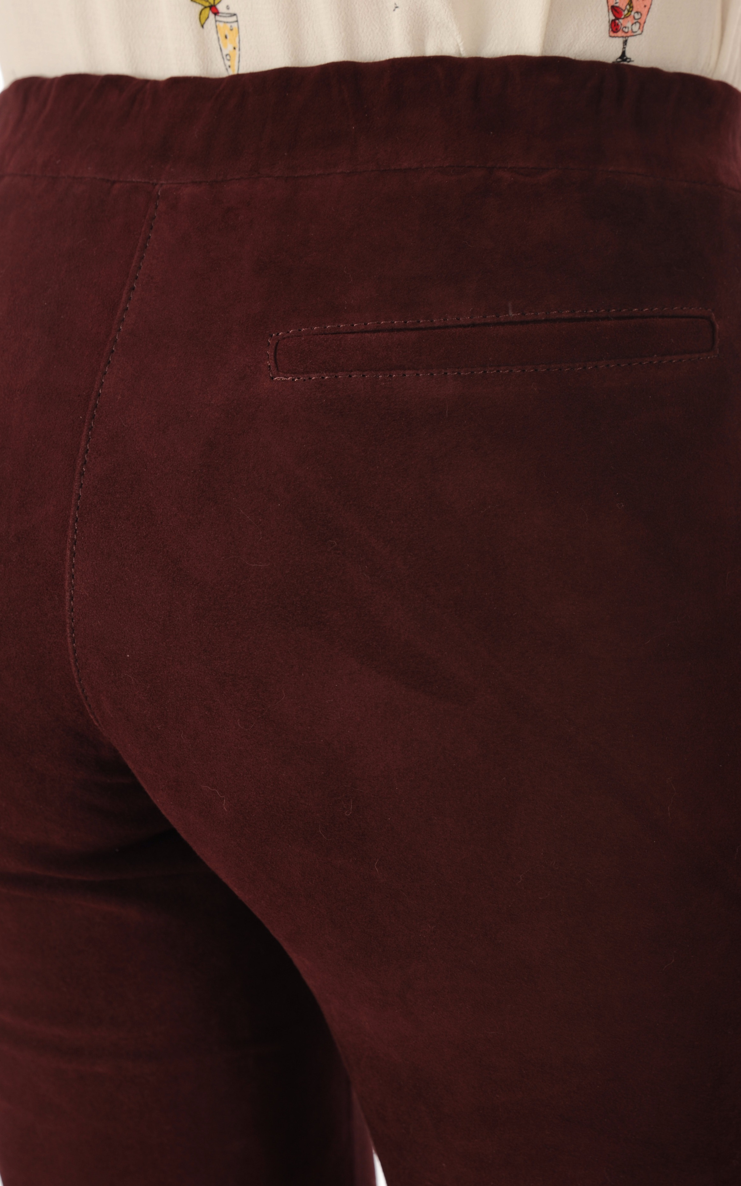 Pantalon Cuir Stretch Bordeaux Steven-K
