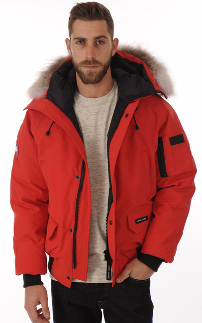 blouson chilliwack rouge homme canada goose la canadienne doudoune parka textile rouge. Black Bedroom Furniture Sets. Home Design Ideas