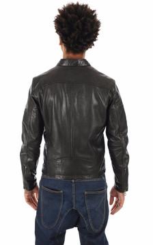 Blouson Gafino en cuir noir