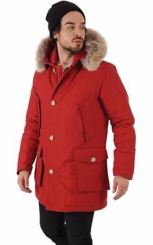 Parka Avec Fourrure Homme Artic Rouge1