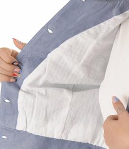 Flo&Clo - Blouson en cuir bleu Flo&Clo