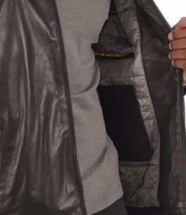 Blouson Cuir Agneau Noir Homme Bugatti