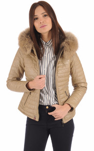 Doudoune Light Cuir Beige