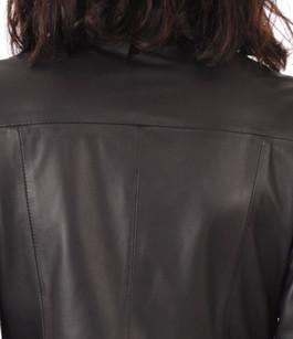 Robe Cuir Femme Col Velours La Canadienne