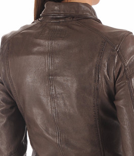 Blouson en cuir marron Oakwood