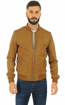 Oakwood - Blouson en cuir mouton marron
