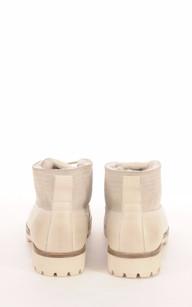 Boots Cuir et  Mouton Blanc Cassé Femme Blackstone