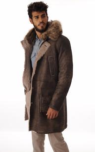 Manteau Peau Lainée Fourrure Marmotte