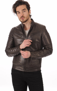 Blouson Cuir Marron Lynch