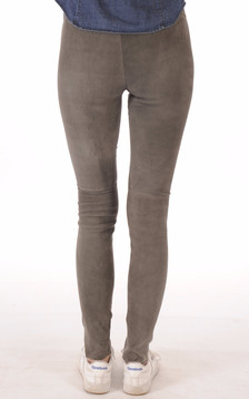Legging Cuir Stretch Gris