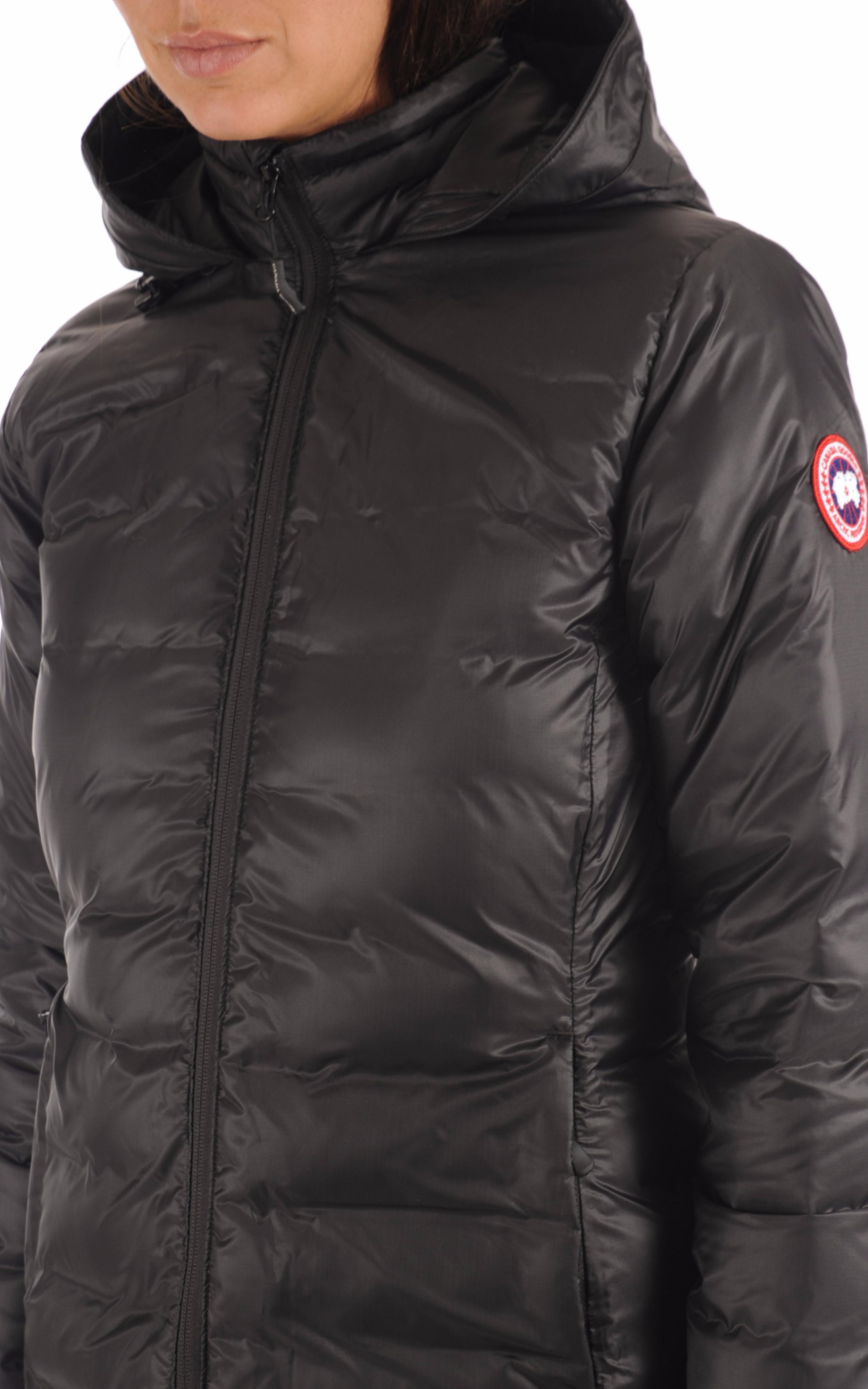 Parka Camp Hooded Jacket Noire Canada Goose