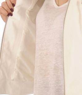 Blouson Motard Femme Cuir blanc Flo&Clo