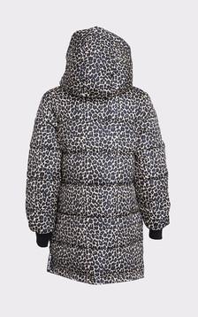 Parka réversible Bianca noire et léopard