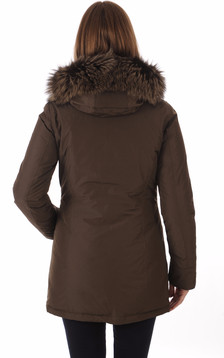 Parka Luxury Artic Fox Marron Foncé