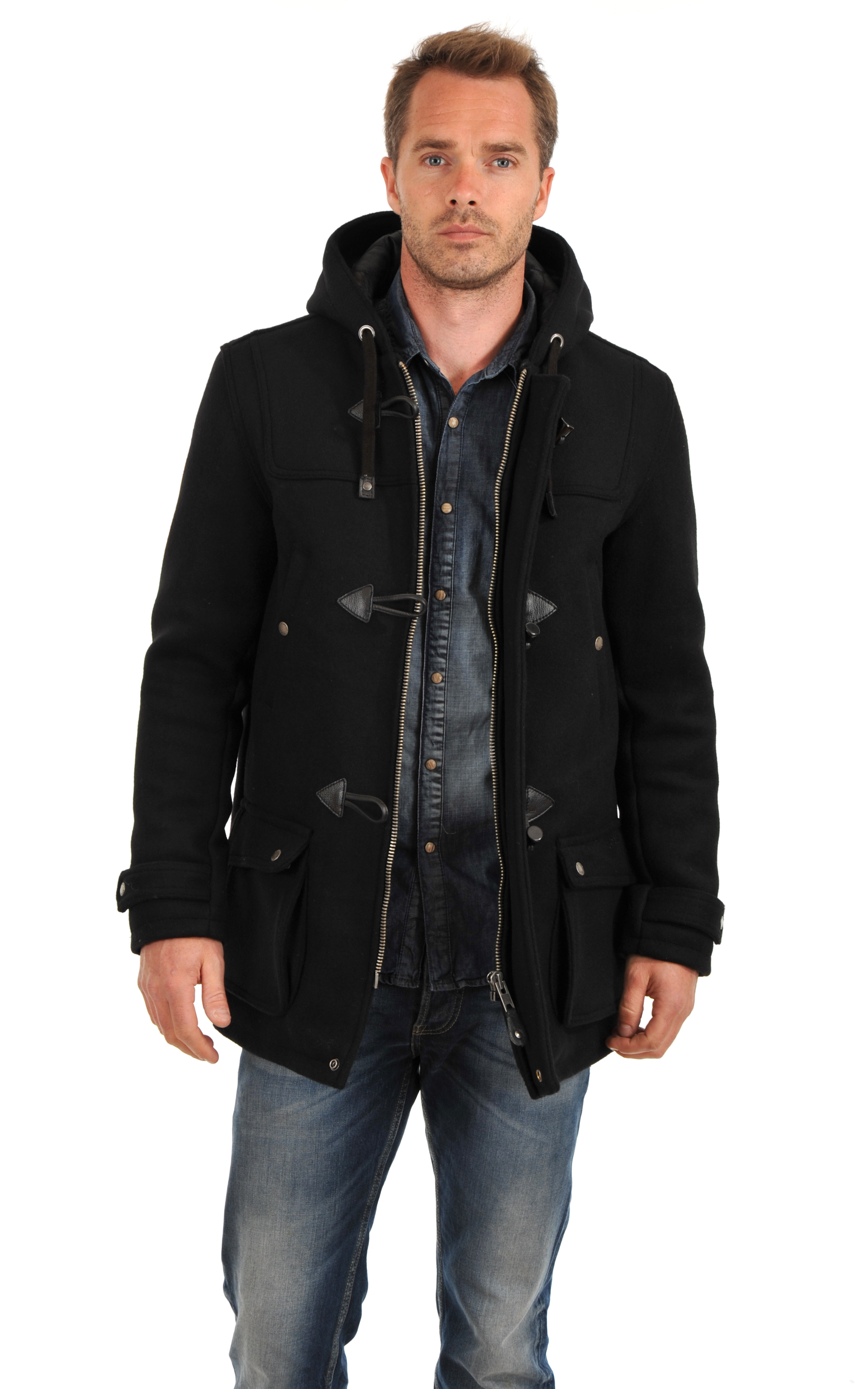 Duffle Coat Warren Noir Schott
