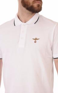Polo Blanc Logo Aero