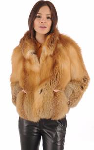 Veste en daim femme fourure