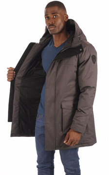 Parka Yves steel grey