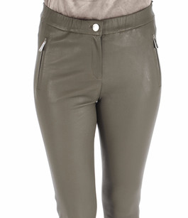 Pantalon Céleste agneau stretch kaki Oakwood