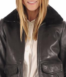 Blouson Pilote Noir pour Femme Redskins