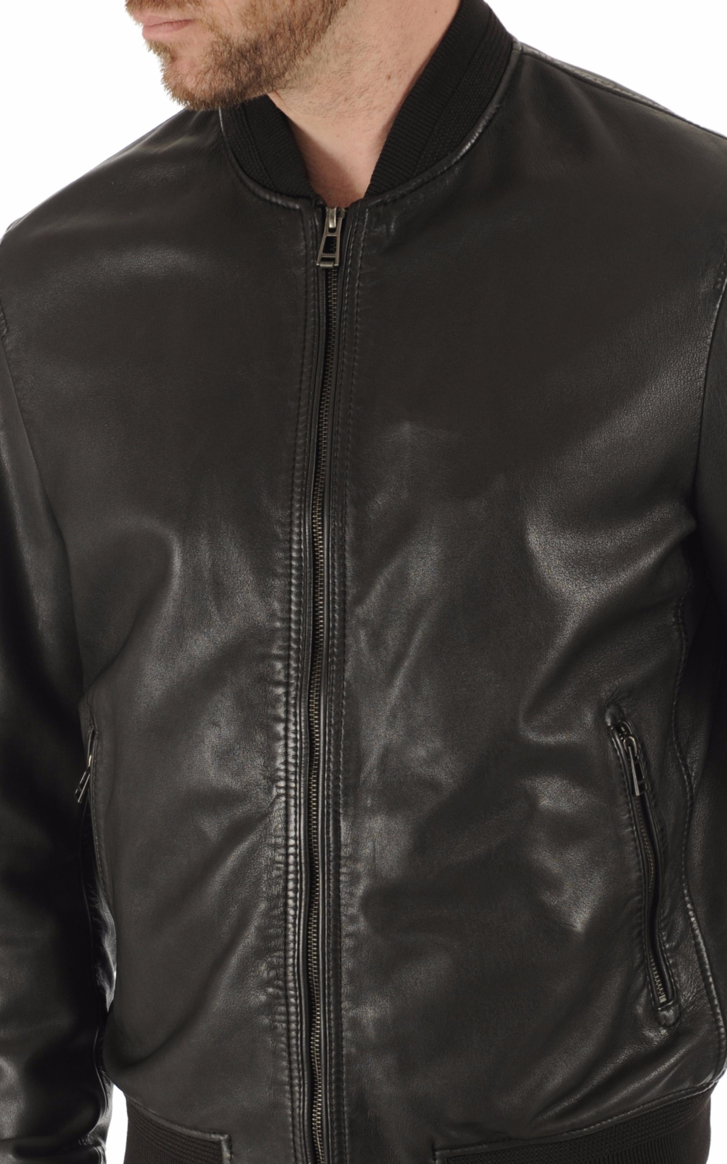 Blouson Bayling cuir noir Belstaff
