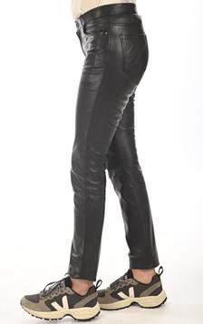 Jean slim cuir noir