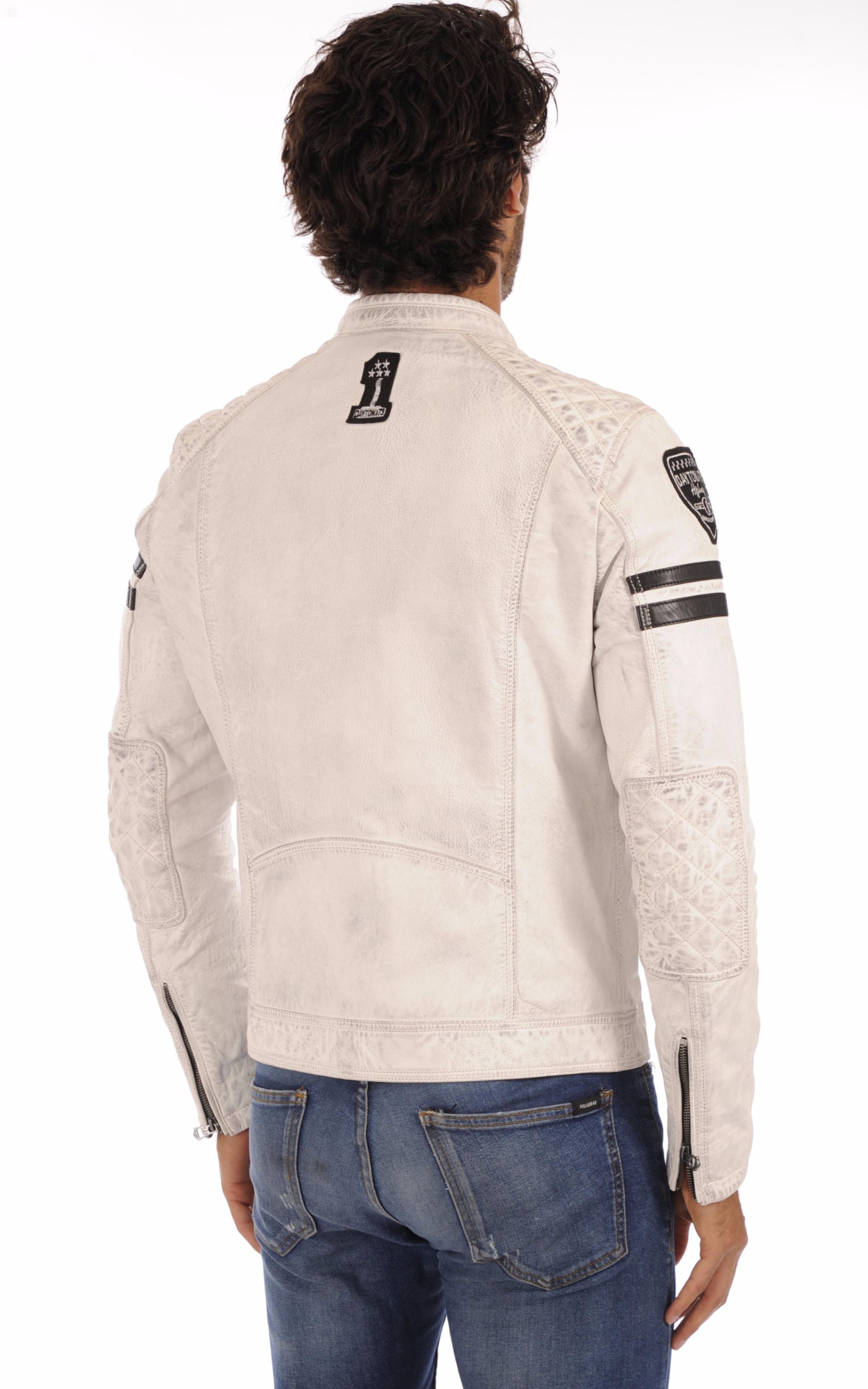 Blouson Motard Blanc Daytona 73