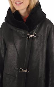Veste Confort Peau Lainée Noire Femme Levinsky