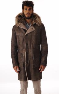 Manteau Peau Lainée Fourrure Marmotte1
