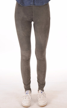 Legging Cuir Stretch Gris1